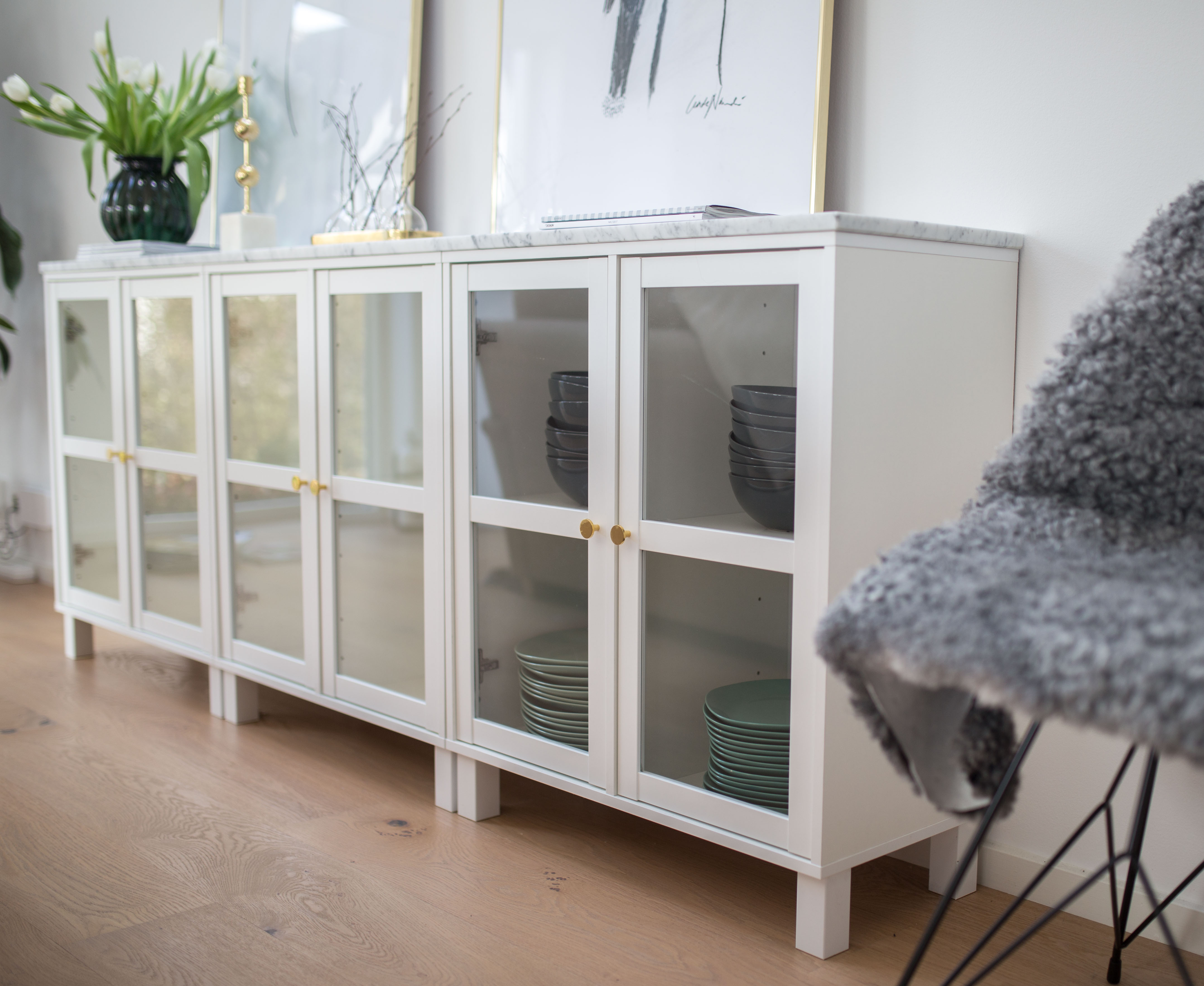 How to make a budget sideboard look expensive