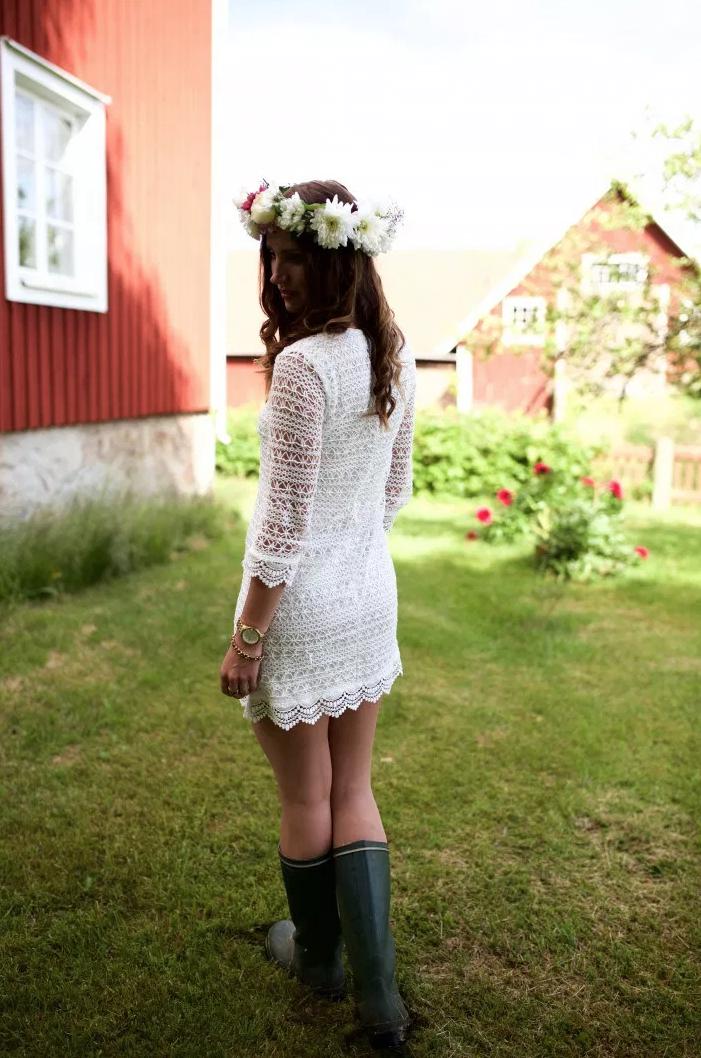 Stilrena och eleganta vita klänningar för midsommar!