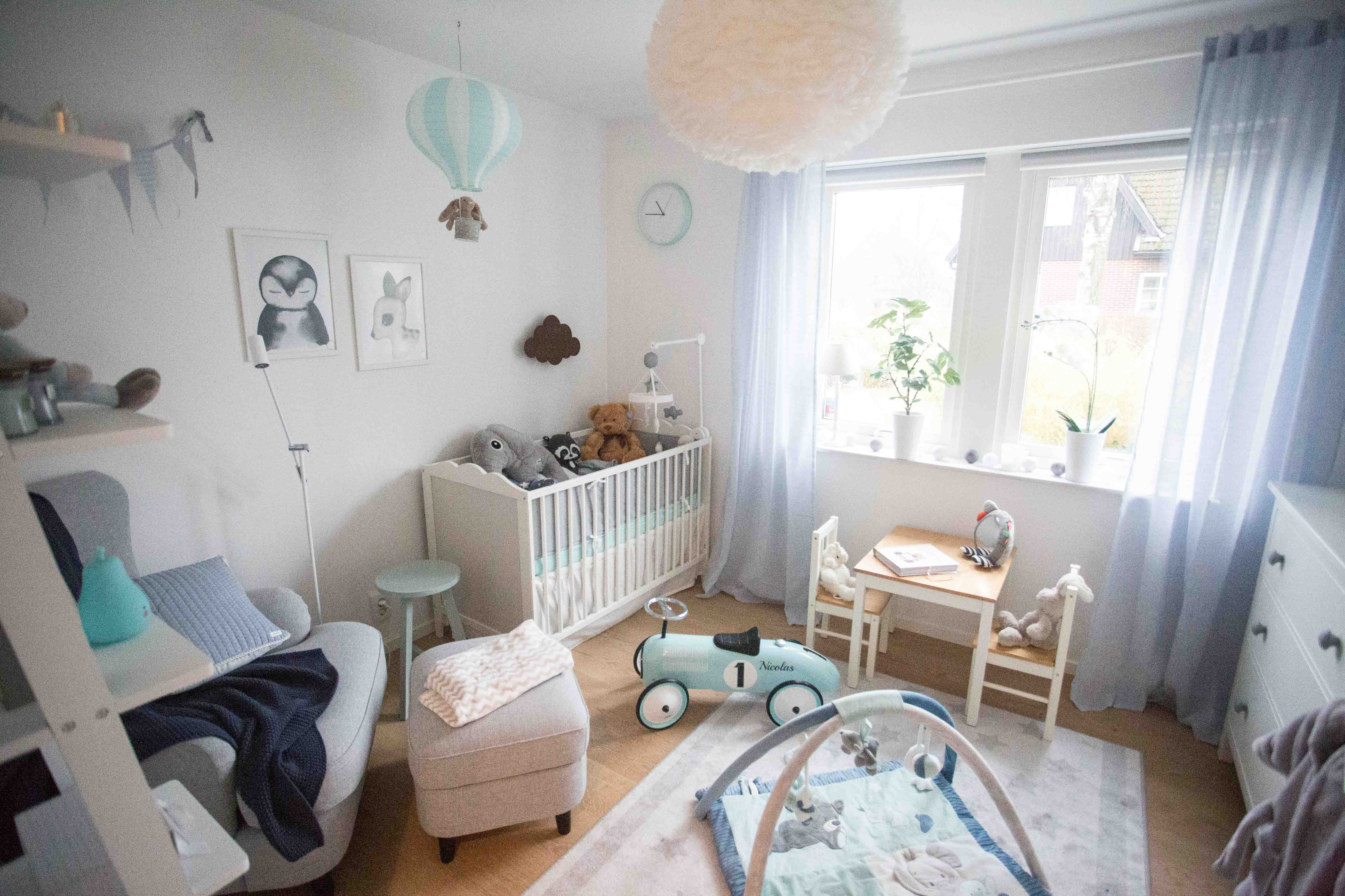 Baby room inspiration blue turquoise