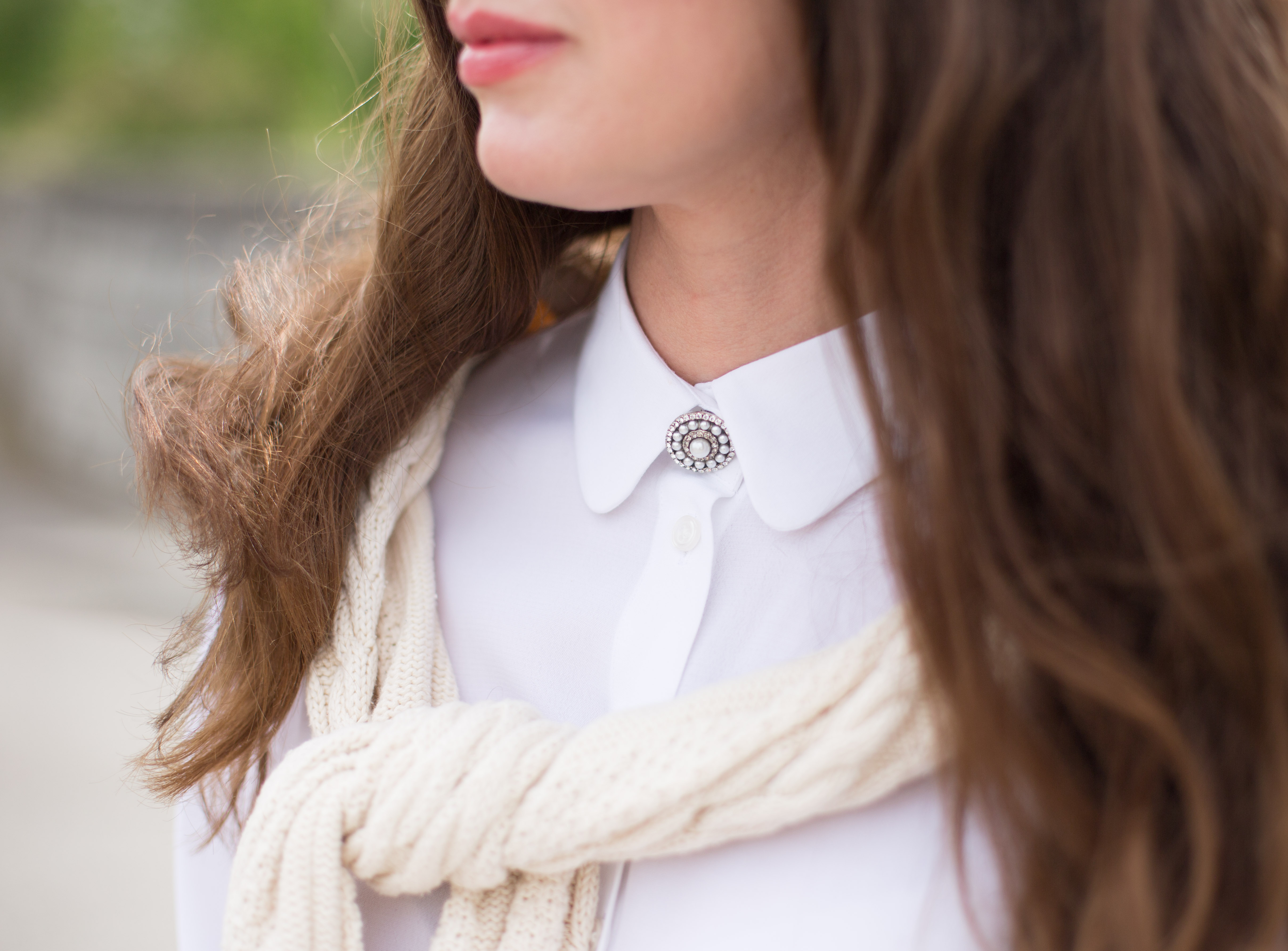 Style your blouse with a Brooch