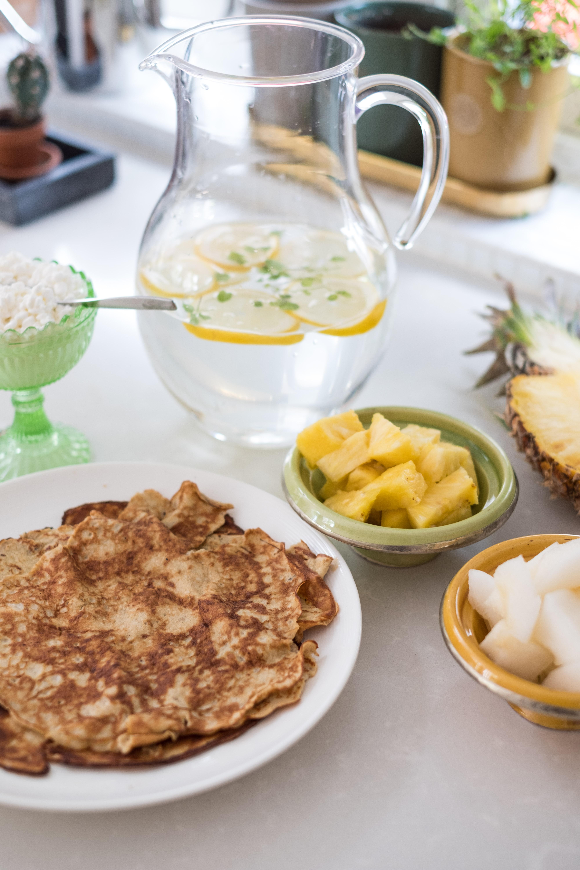Proteinpannkakor på banan & jordnötssmör